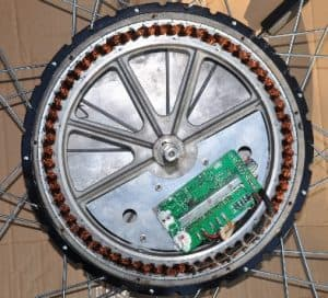 An e-bike direct-drive motor with internal controller