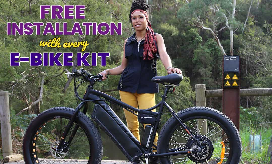 Free installation with every e-bike kit purchase